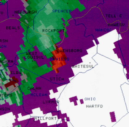 Owensboro, KY F3 Tornado – January 3, 2000