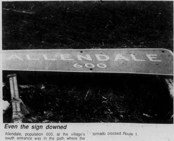 Allendale, IL F4 Tornado – January 7, 1989