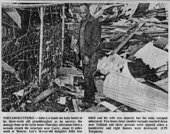 Corey, LA F3 Tornado – January 18, 1973