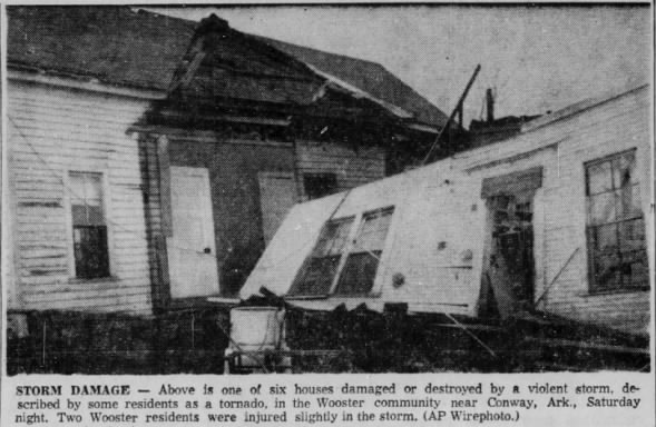 Faulkner-White County, AR F3 Tornado – January 28, 1956