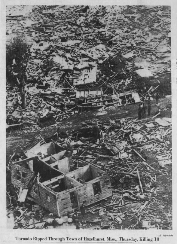 Hazlehurst, MS F4 Tornado – January 23, 1969