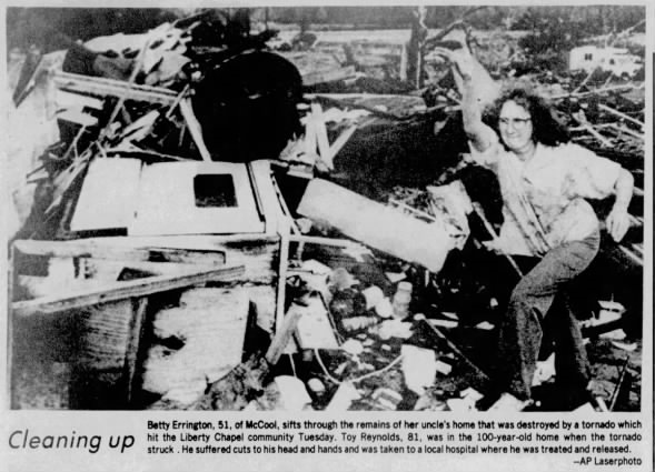 Liberty Chapel, MS F4 Tornado – January 19, 1988