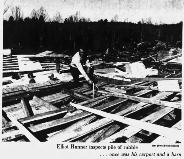 Randolph County, AL F3 Tornado – January 26, 1974