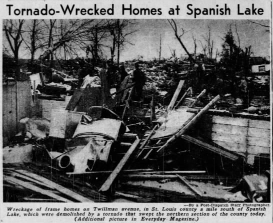 St. Louis Area F3 Tornado – January 3, 1950