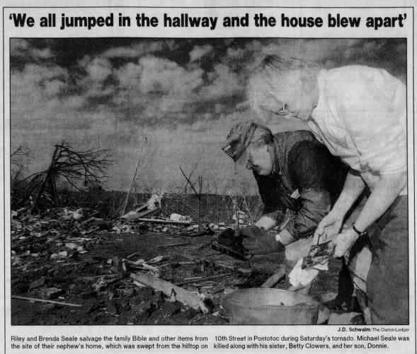 Algoma-Pontotoc-Baldwyn, MS F3 Tornado – February 24, 2001