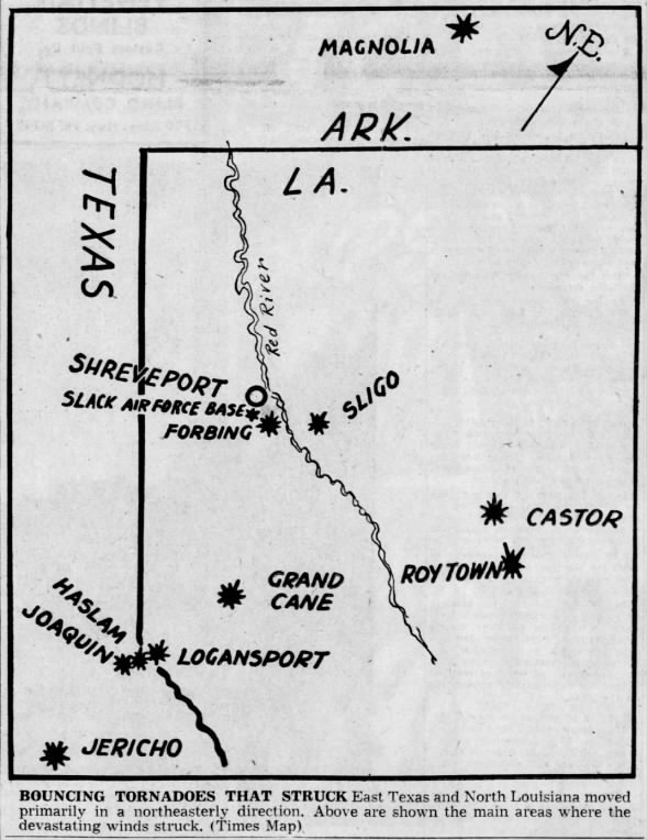 Ark-La-Tex Tornadoes of February 12, 1950