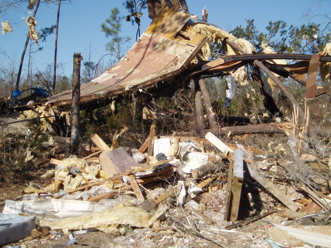 Cottonton, AL to Roberta, GA EF2 Tornado – February 17, 2008