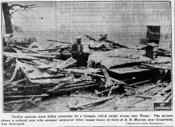 Leon and Houston Counties, TX F2 Tornado – February 8, 1935