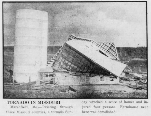 Ozark-Marshfield, MO F3 Tornado – February 20, 1937
