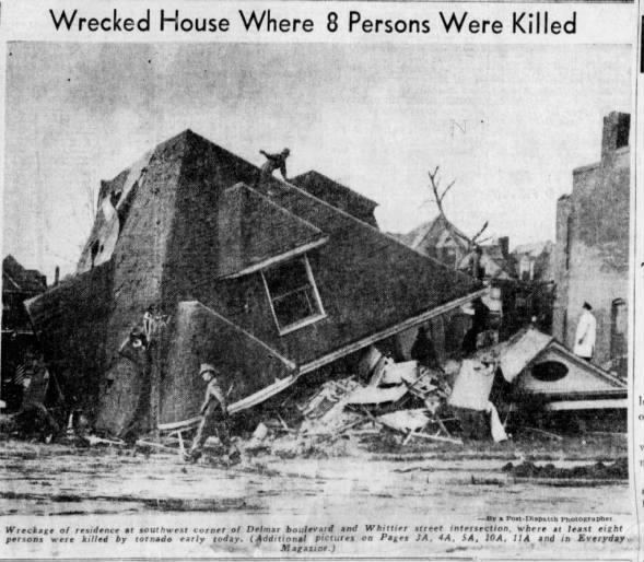 St. Louis, MO F4 Tornado – February 10, 1959
