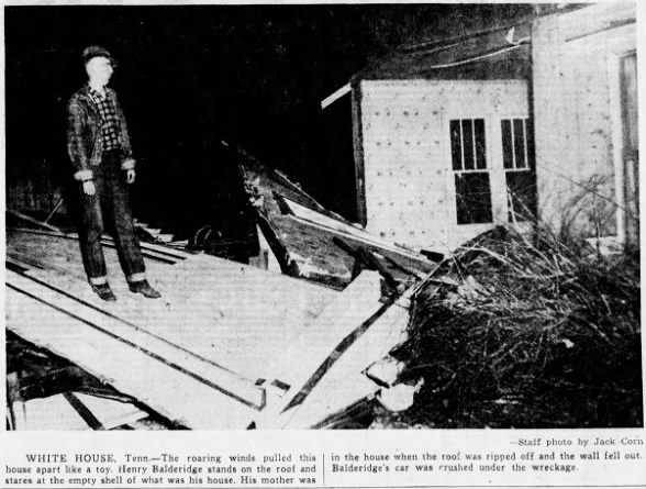 White House-Portland, TN F3 Tornado – February 27, 1956