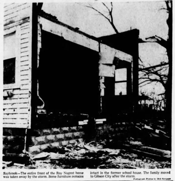 Arrowsmith to Hoopeston, IL F1 Tornado – March 4, 1961