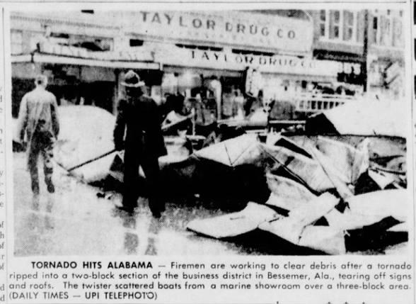 Bessemer, AL F4 Tornado – March 5, 1963