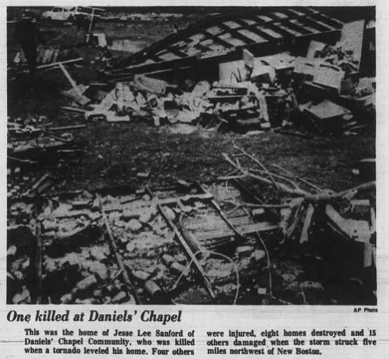 Bowie County, TX F4 Tornado – March 12, 1971