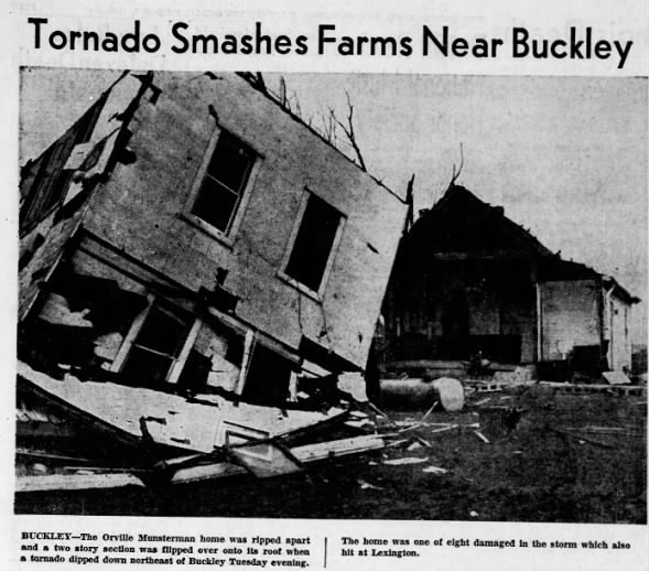 Buckley, IL F3 Tornado – March 6, 1956