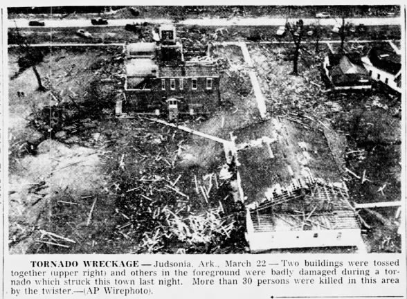 Judsonia, AR F4 Tornado – March 21, 1952