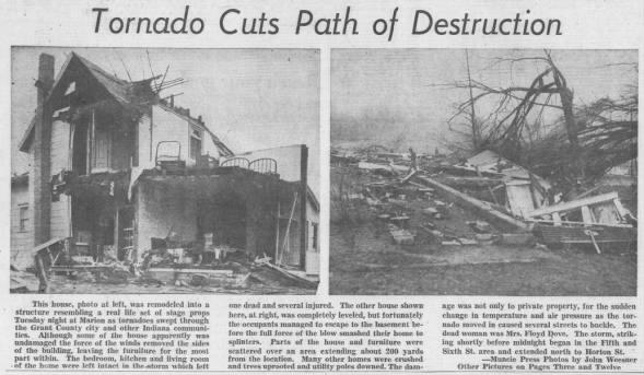 Marion, IN F4 Tornado – March 6, 1956
