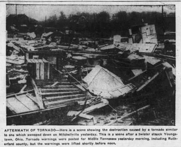Mitchellville, TN F2 Tornado – March 4, 1955