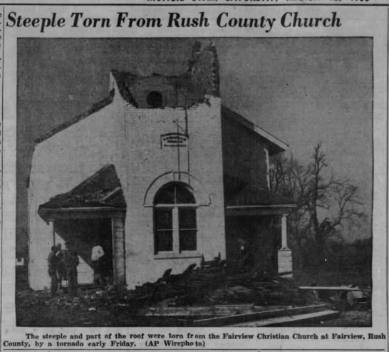 Morristown to Connersville to Brownsville, IN F2 Tornado – March 11, 1955
