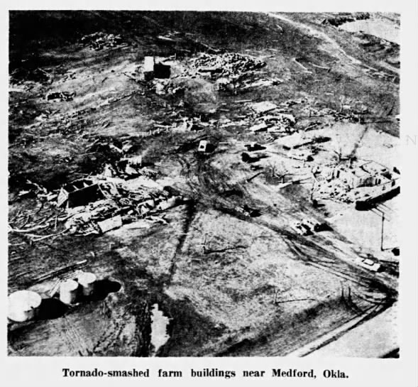 Nash, OK to Geuda Springs, KS Tornado Family – March 16, 1965