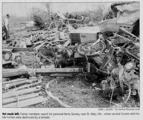 Ste. Genevieve County, MO to Perry County, IL F3 Tornado – March 11, 2006