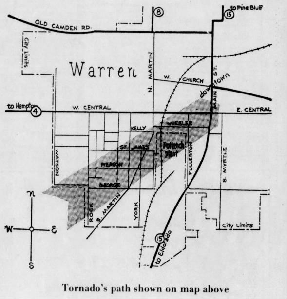 Warren, AR F4 Tornado – March 28, 1975
