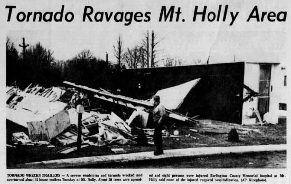 Woodbury to Farmingdale, NJ F1 Tornado – March 10, 1964