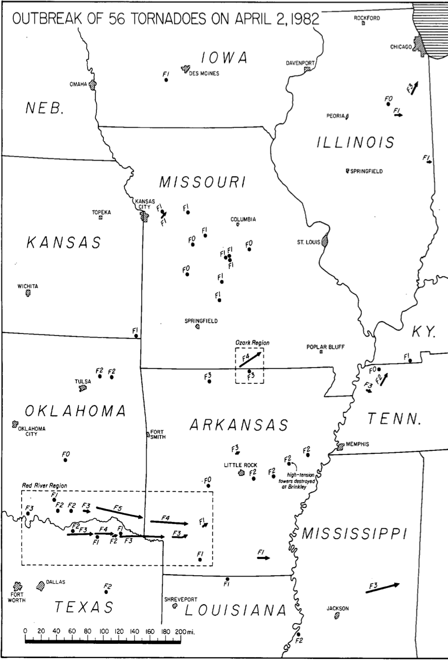 The April 2, 1982 Tornado Outbreak – Overview