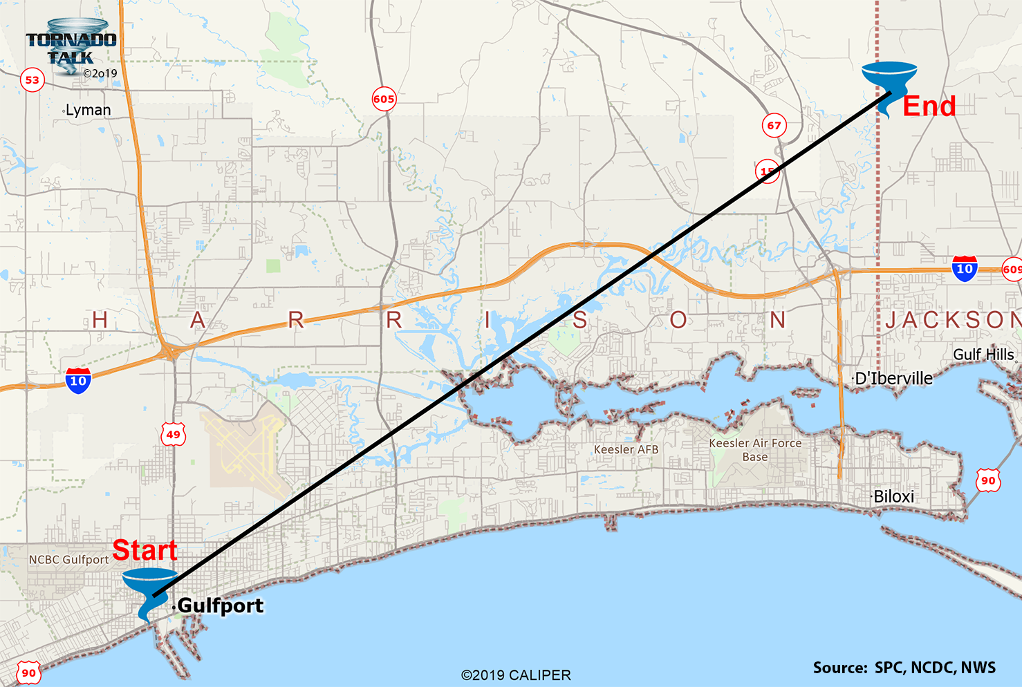 Gulfport, MS F3 Tornado – April 13, 1980