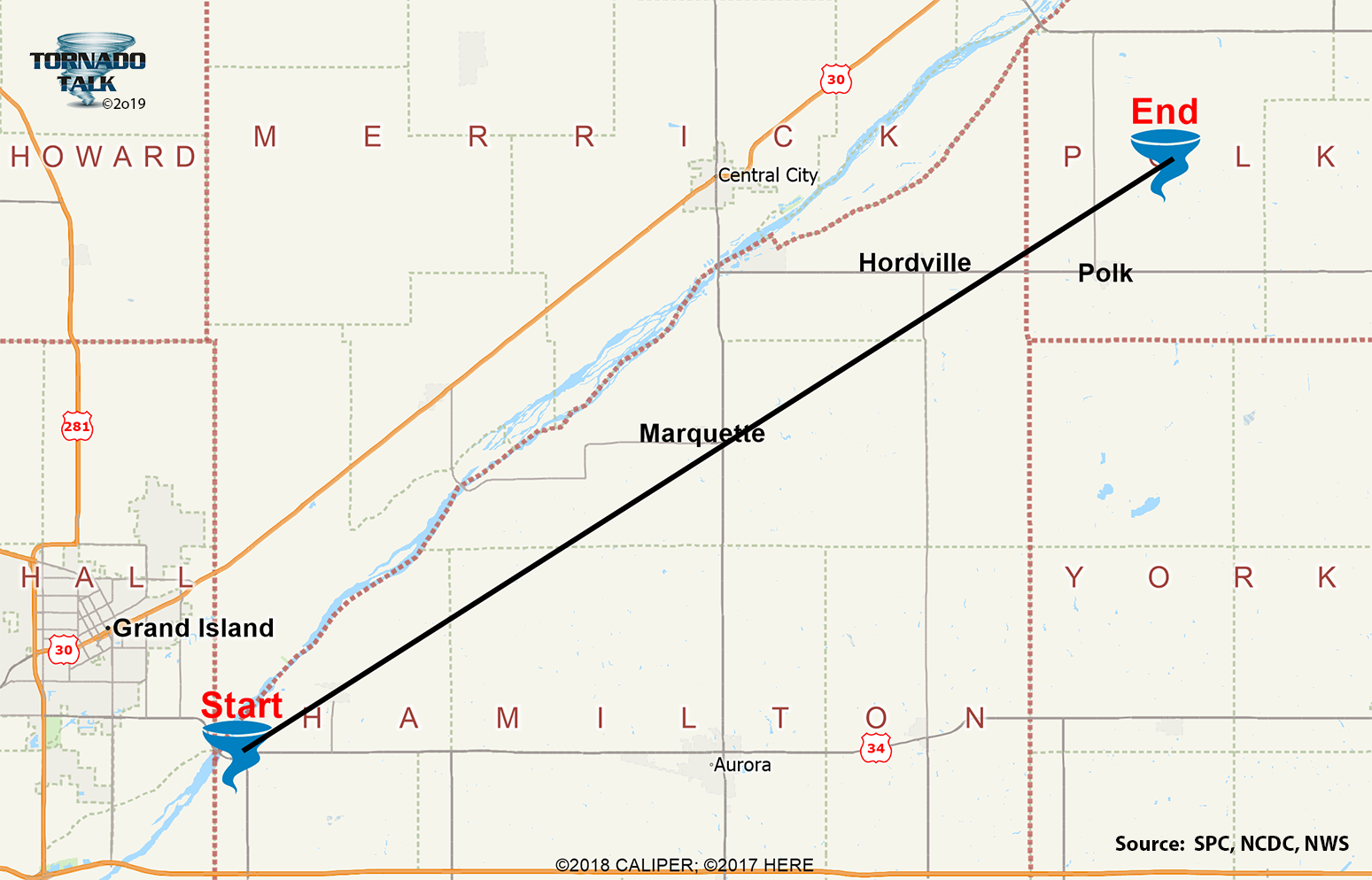 Hamilton & Polk Counties, NE F4 Tornado – April 7, 1978
