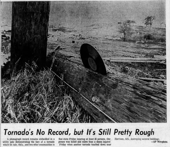 Ada, OK F3 Tornado – April 20, 1973