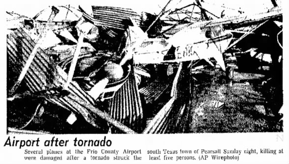 Frio County, TX F4 Tornado – April 15, 1973