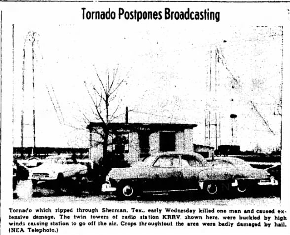 Grayson & Fannin County, TX F3 Tornado – April 6, 1955