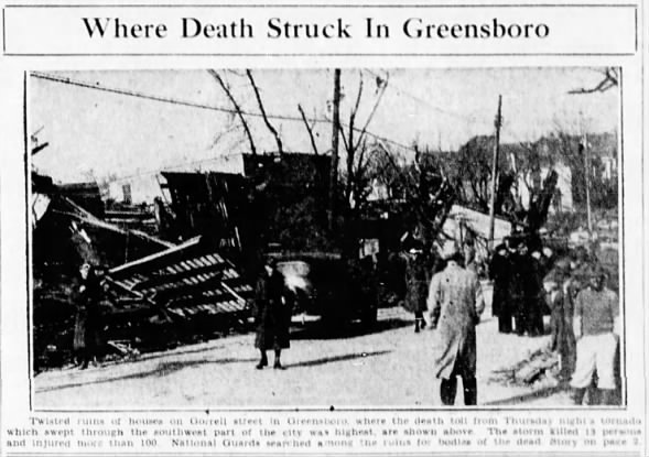Greensboro, NC F4 Tornado – April 2, 1936