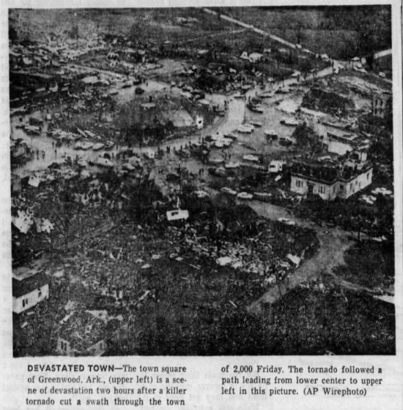The Greenwood Arkansas F4 Tornado – April 19, 1968