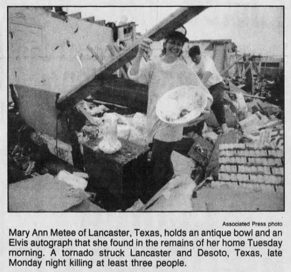 Lancaster, TX F4 Tornado – April 25, 1994