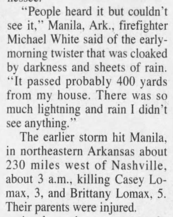 Manila, AR F4 Tornado – April 16, 1998