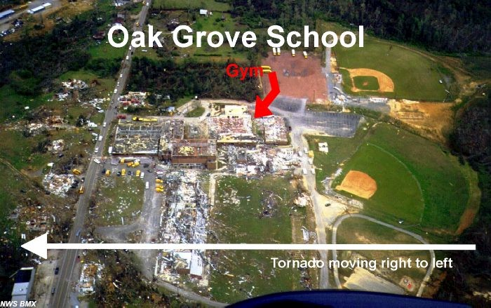 Oak Grove, AL F5 Tornado – April 8, 1998