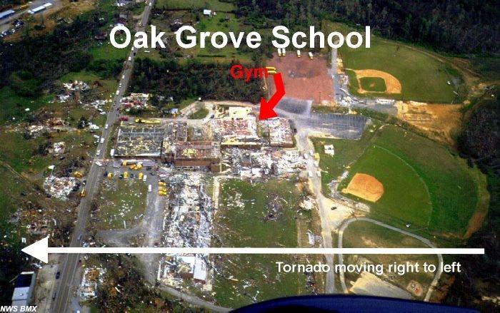 Oak Grove, AL F5 Tornado – April 8, 1998