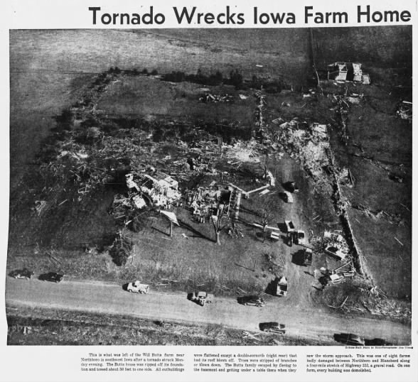 Westboro to Northboro F4 Tornado – April 5, 1954