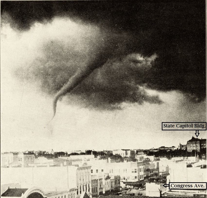 Austin, TX Tornadoes of May 4, 1922