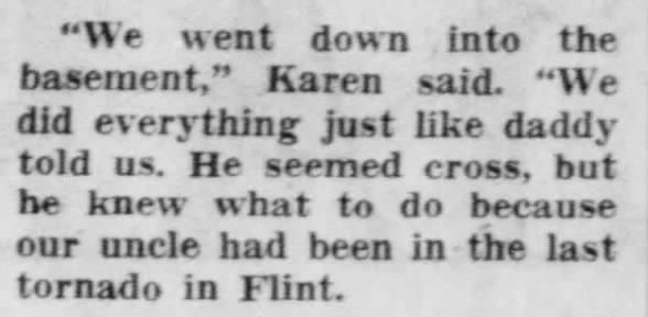Flint, MI F4 Tornado – May 12, 1956