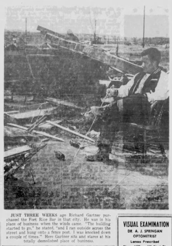 Fort Rice, ND F5 Tornado – May 29, 1953