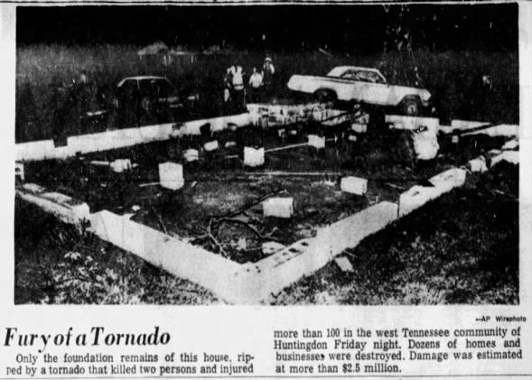 Huntingdon, TN F4 Tornado – May 7, 1971