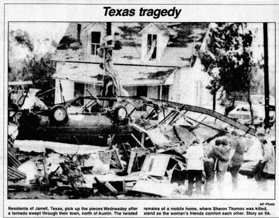 Jarrell, TX F3 Tornado – May 17, 1989