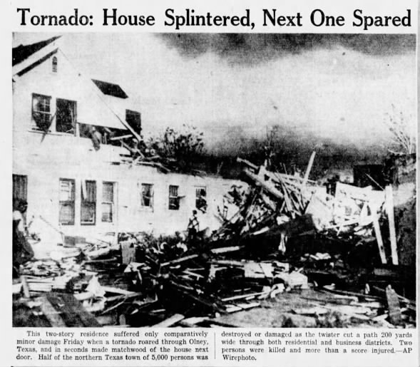 Olney, TX F4 Tornado – May 18, 1951