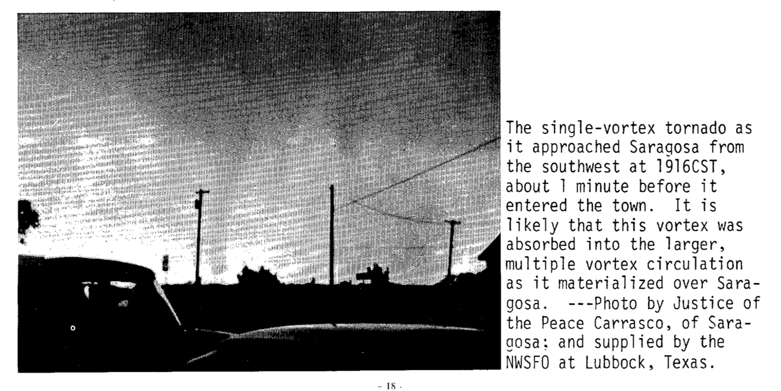 Saragosa, TX F4 Tornado – May 22, 1987