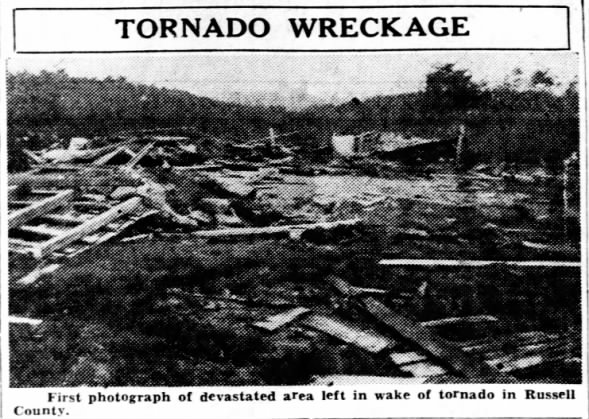 Tompkinsville to Russell Springs, KY F4 Tornado – May 9, 1933