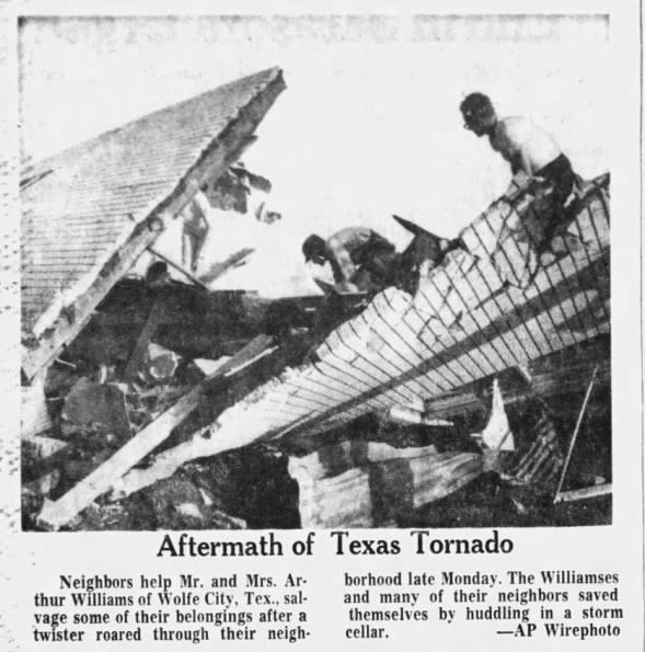 Wolfe City, TX F3 Tornado – May 23, 1966