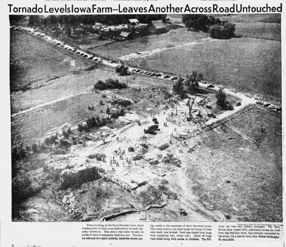 Cass-Adair County, IA F5 Tornado – June 27, 1953